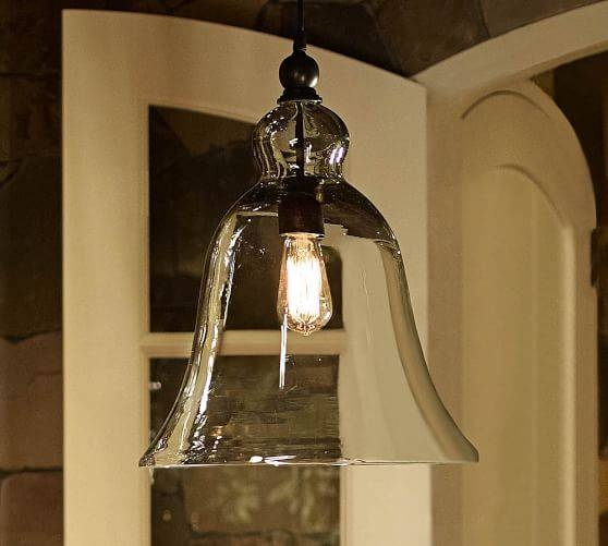 Rustic Glass Indoor/outdoor Pendant – Large | Pottery Barn In Barn Pendant Light Fixtures (#14 of 15)