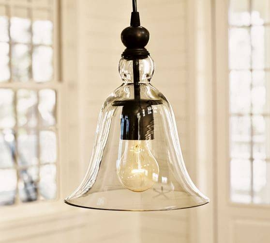 Rustic Glass Indoor/outdoor Pendant – Small   Pottery Barn Within Rustic Light Pendants (View 6 of 15)