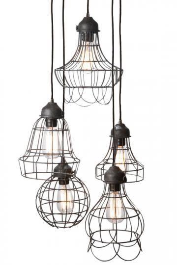 Sandra Leppert & Associates – Wire Five Light Pendant Inside Corded Pendant Lights (#12 of 15)
