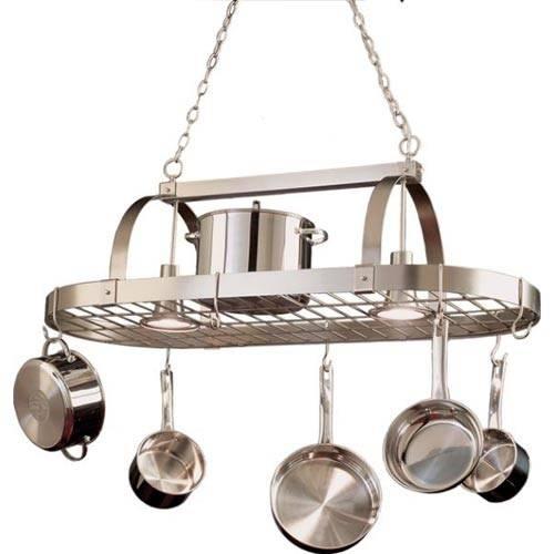Popular Photo of Pot Rack With Lights Fixtures