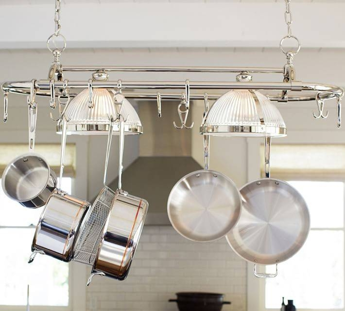 Popular Photo of Pot Rack Pendant Lights