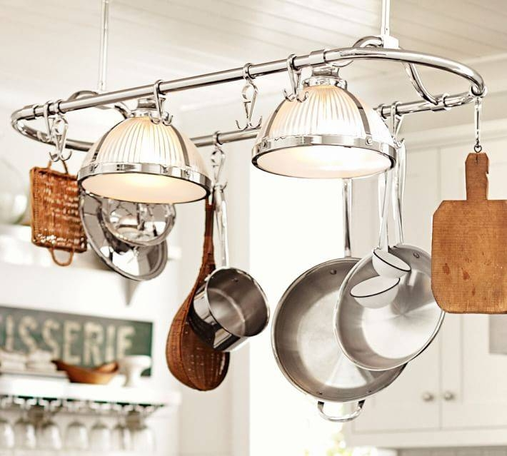 Sawyer Pot Rack Pendant | Pottery Barn Regarding Pot Rack Pendant Lights (#14 of 15)