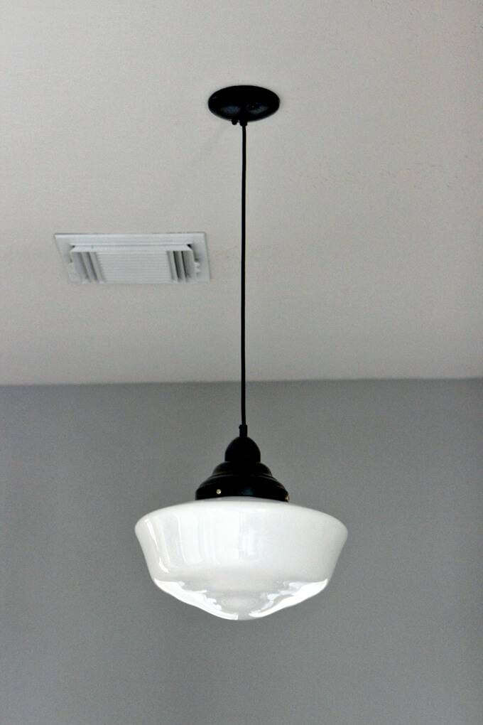 Schoolhouse Pendant Light Solution | Gray House Studio Throughout Large Schoolhouse Lights (#10 of 15)
