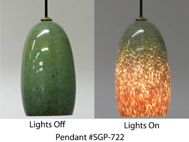 Sea Green Glass Pendant Light | Artisan Crafted Home Regarding Artisan Glass Pendant Lights (#12 of 15)