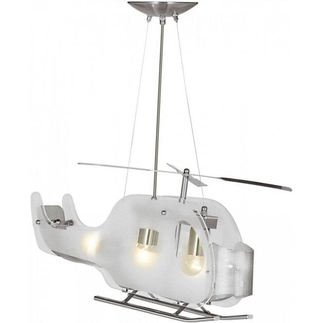 Searchlight Lighting Glass Helicopter 3 Light Pendant Fitting For 3 Lights Pendant Fitter (View 13 of 15)