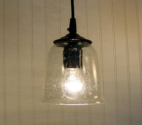 Seeded Glass Pendant Light – Hbwonong With Regard To Seeded Glass Mini Pendant Lights (#11 of 15)