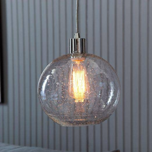 Seeded Glass Pendant Light – Hbwonong With Seeded Glass Mini Pendant Lights (#12 of 15)