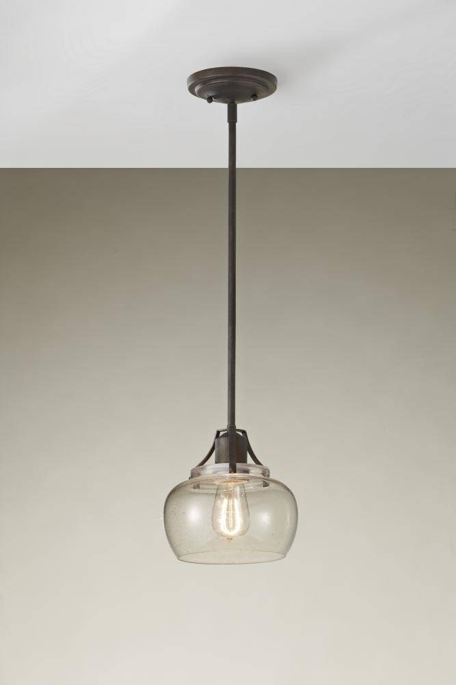 Popular Photo of Seeded Glass Mini Pendant Lights