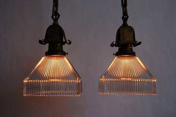 Set Of 10 Brass Arts & Crafts Holophane Pendant Lights From Throughout Arts And Crafts Pendant Lighting (View 2 of 15)