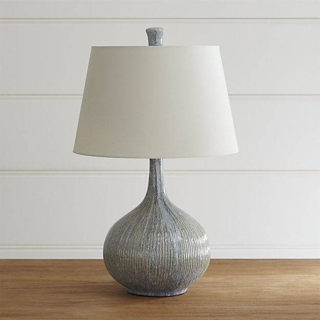 Shaye Onion Lamp | Crate And Barrel For Crate And Barrel Shades (#10 of 15)