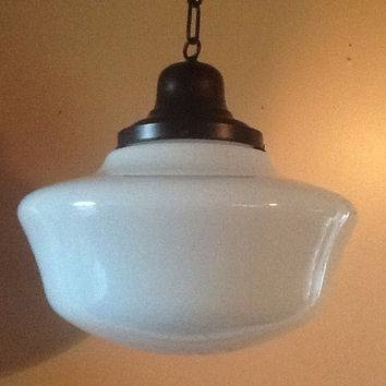 Shop Hanging Glass Light Fixtures On Wanelo Regarding Large Schoolhouse Lights (#12 of 15)