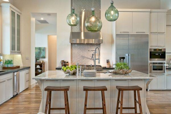 Short Hairstyles: Great Pendant Lights For Kitchen Islands Inside Green Kitchen Pendant Lights (#15 of 15)