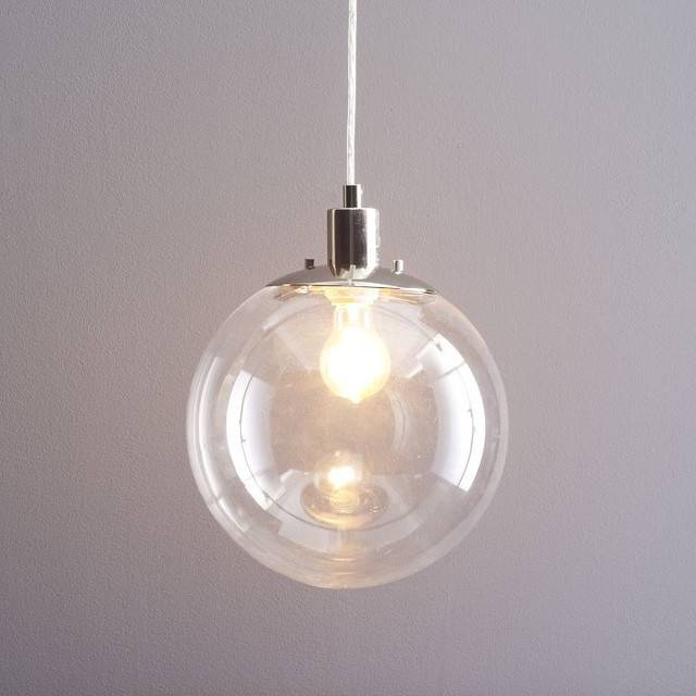 Short Hairstyles: Simple Globe Light Pendant Large Globe Pendant In Glass Pendant Lights Fittings (#14 of 15)