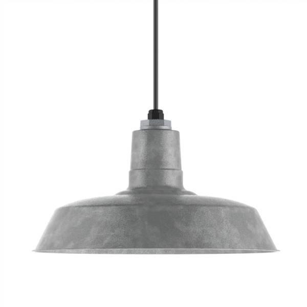 Popular Photo of Galvanized Pendant Barn Lights