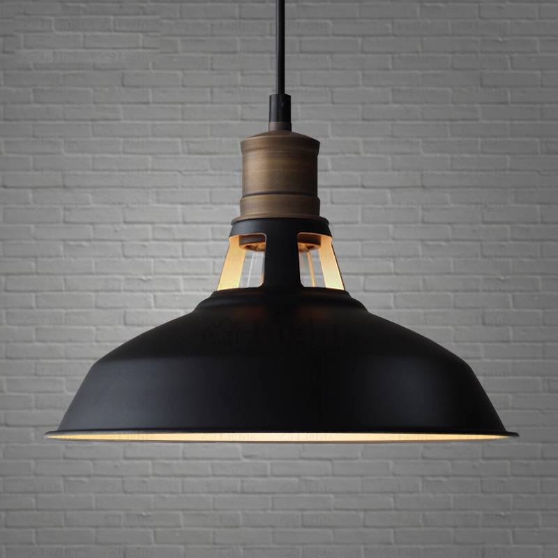 Simple Design Country Black Industrial Pendant Light Regarding Industrial Pendant Lights (#14 of 15)
