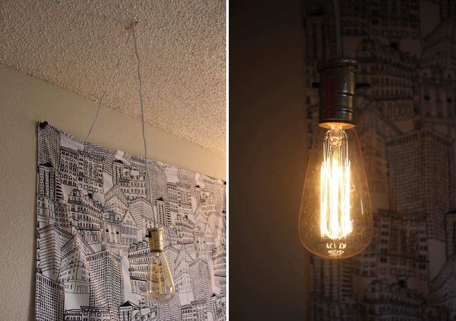 Simple Diy Exposed Hanging Light Bulb Regarding Exposed Bulb Pendant Lights (#14 of 15)