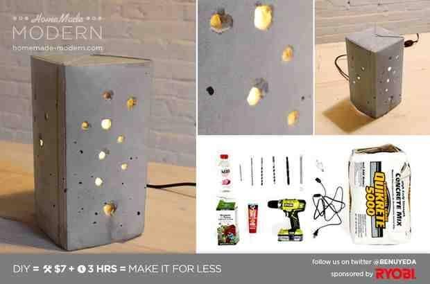 Sleek Diy Concrete Pendant Lamp For $10 – Do It Yourself Fun Ideas With Diy Concrete Pendant Lights (#14 of 15)