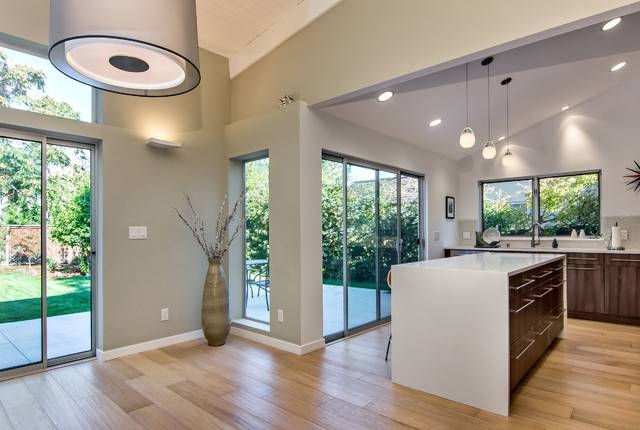 Sloped Ceilings – Midcentury – Kitchen – San Francisco  Bill Within Pendant Lights For Sloped Ceilings (#13 of 15)
