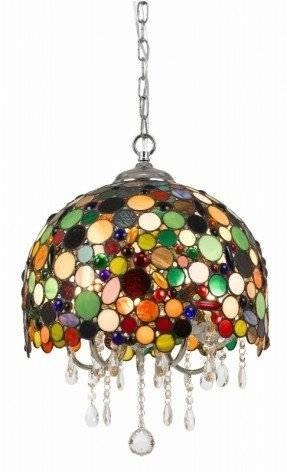 Stained Glass Hanging Pendant Lamp – Foter Within Stained Glass Pendant Lights (#13 of 15)