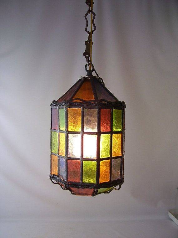 Stained Glass Light Fixture On Outdoor Laser Lights Lowes Outdoor For Coloured Glass Lights (#14 of 15)