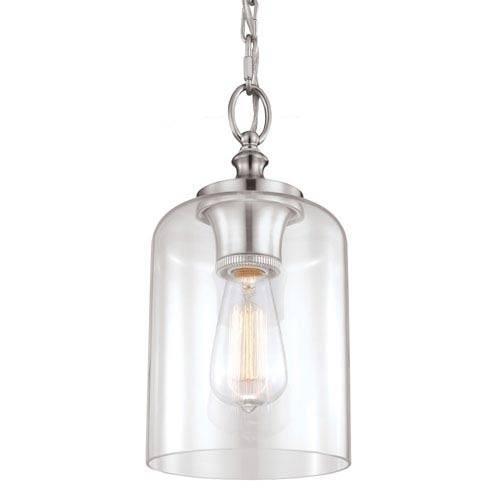 Stainless Steel Mini Pendant Lighting | Bellacor Throughout Brushed Stainless Steel Pendant Lights (#15 of 15)