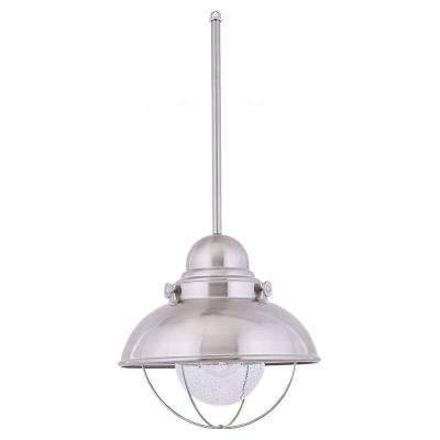 Stainless Steel – Pendant Lights – Hanging Lights – The Home Depot Throughout Brushed Stainless Steel Pendant Lights (#14 of 15)