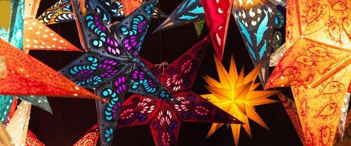Star Lanterns – Star Lamps – Star Lights Throughout Paper Star Pendant Lights (#14 of 15)