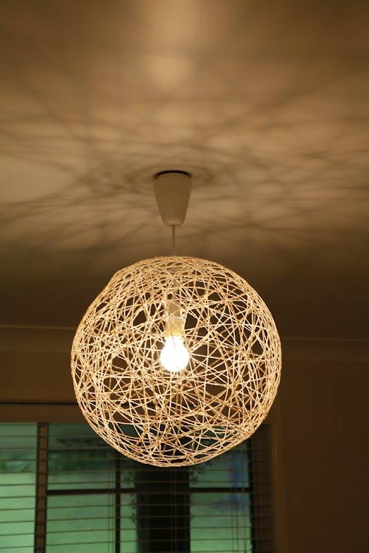 String Lamp | Lighting And Ceiling Fans Pertaining To Diy Yarn Pendant Lights (#13 of 15)