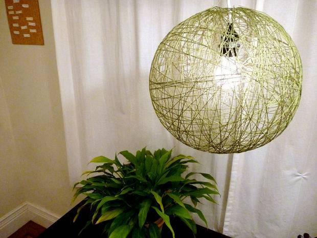 String Pendant Lamp: 9 Steps (With Pictures) In Diy Yarn Pendant Lights (#14 of 15)