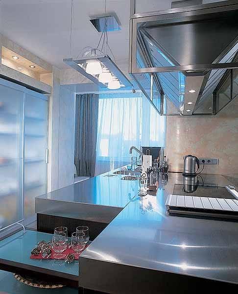 Stylish Kitchen Countertop Materials, 18 Modern Kitchen Ideas With Regard To Stainless Steel Kitchen Lights (View 7 of 15)