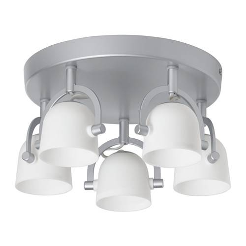 Svirvel Ceiling Light With 5 Spotlights – Ikea Intended For Ikea Recessed Lights (#14 of 15)