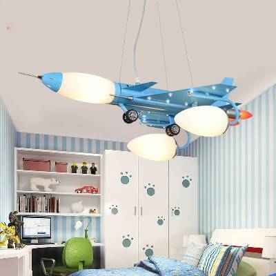 The Airplane Pendant Lamp | Children Bedroom Cartoon Pendant Light Intended For Airplane Pendant Lights (View 14 of 15)