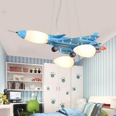 The Airplane Pendant Lamp | Children Bedroom Cartoon Pendant Light Intended For Airplane Pendant Lights (#14 of 15)