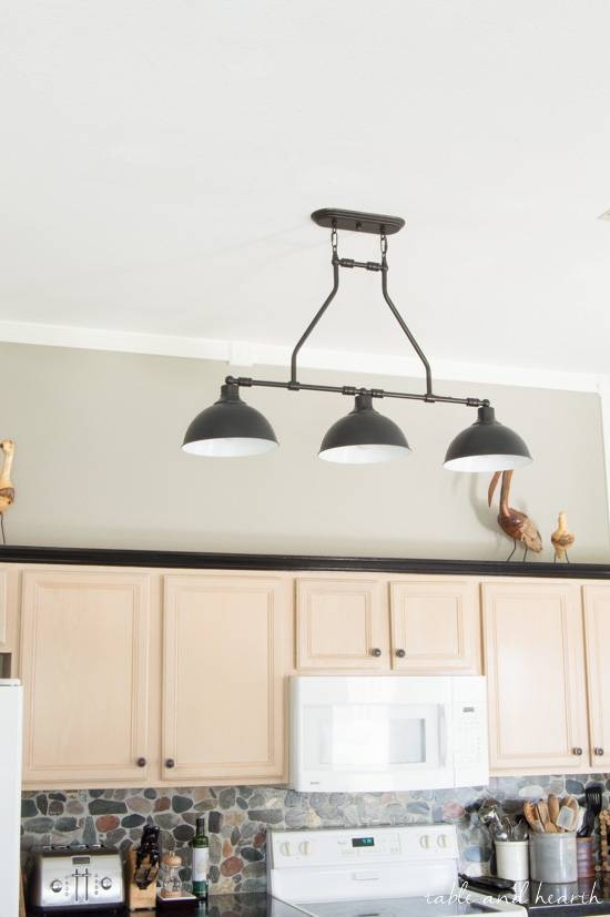The New Farmhouse Pendant Lights – {T&h Kitchen Makeover} | Table For Farmhouse Pendant Lighting Fixtures (#15 of 15)