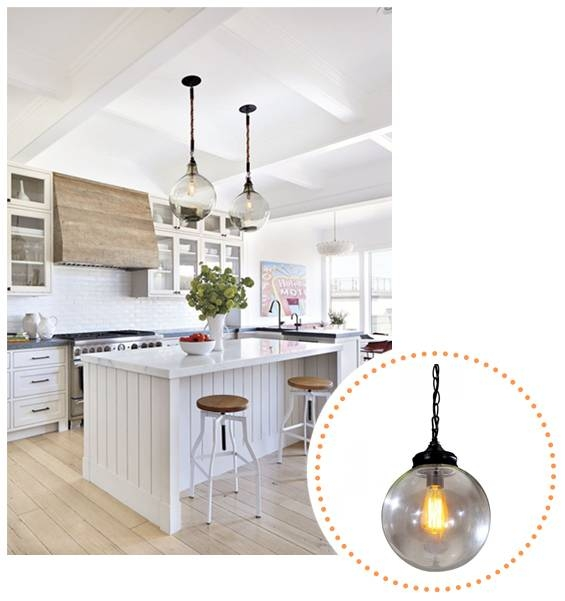 Inspiration about The Painted Hive | Kick Butt Lighting…and An Awesome Giveaway Inside Glass Orb Pendant Lights (#4 of 15)