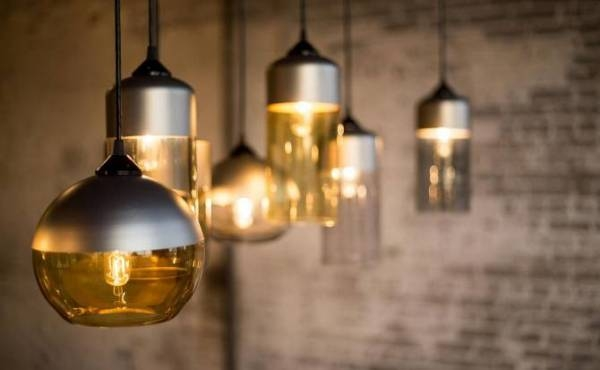 The Parallel Series Of Glass Pendant Lamps – Adorable Home With Brown Glass Pendant Lights (#15 of 15)