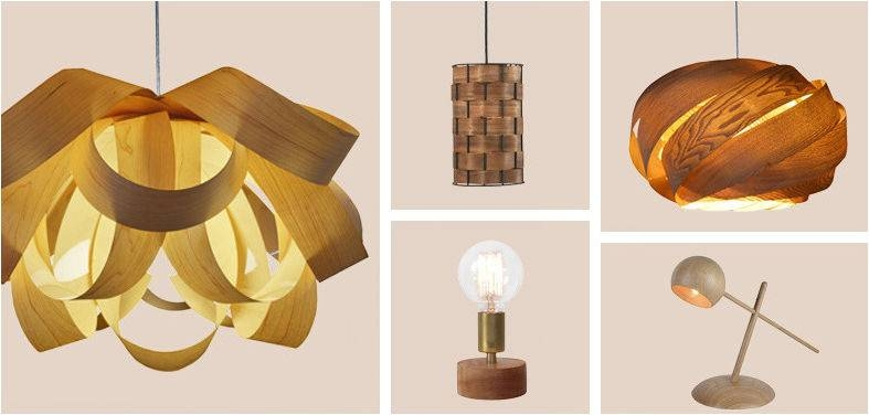 The Warm Glow Of Wood Lighting Inside Bentwood Pendant Lights (#11 of 15)