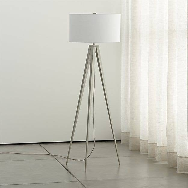 Theo Grey Floor Lamp | Crate And Barrel Intended For Crate And Barrel Shades (#12 of 15)