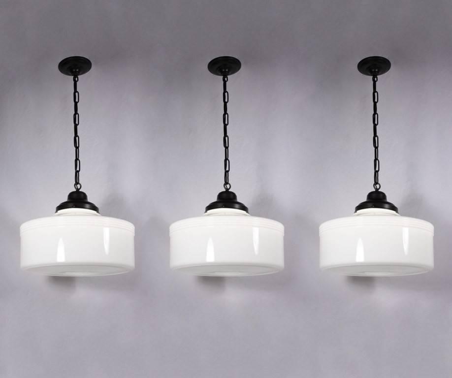 Popular Photo of Milk Glass Pendant Light Fixtures
