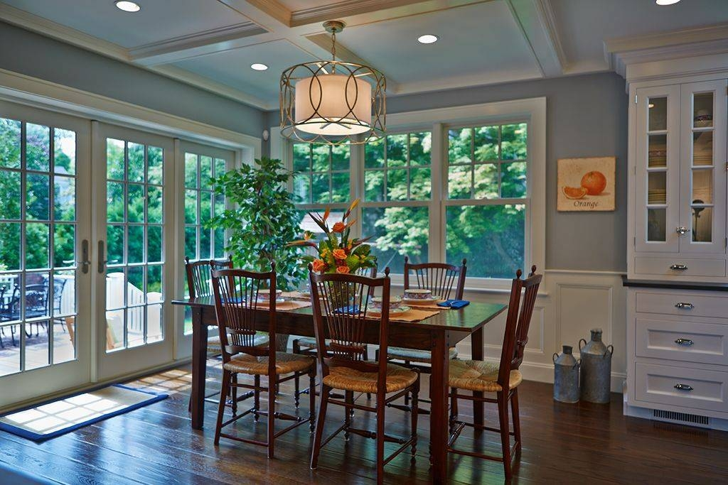 Traditional Dining Room With Hardwood Floorssunrise Building In Troy Sausalito Pendants (View 13 of 15)