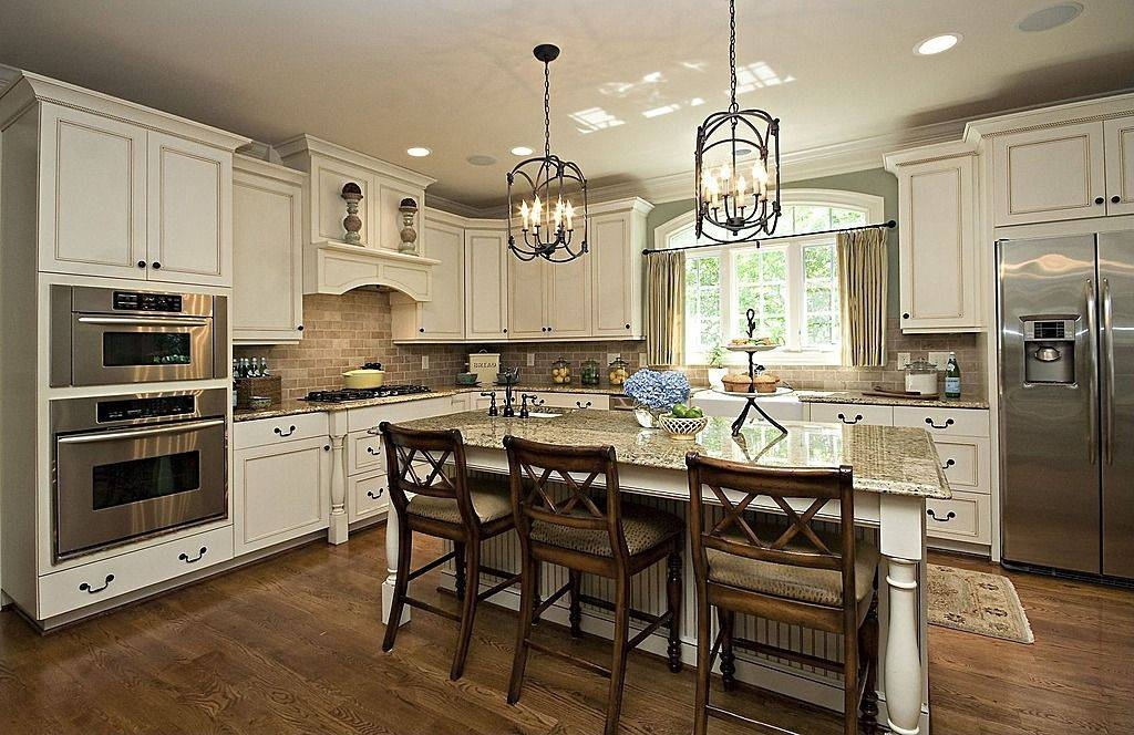 Traditional Kitchen With Simple Granite Counters & L Shaped With Restoration Hardware Pendants (View 10 of 15)