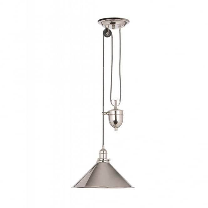 Traditional Rise And Fall Ceiling Light In Aged Brass With Regard To Counterweight Pendant Lights (#15 of 15)