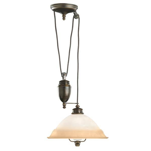 Transitional 1 Light Brass Pull Down Pendant Light Fixture – Free In Pull Down Pendant Lights (#13 of 15)