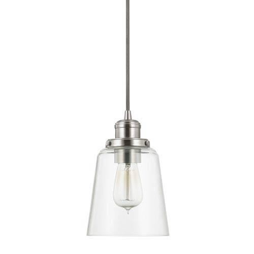 Transitional Mini Pendant Lighting | Bellacor Intended For Brushed Nickel Pendant Lighting (View 6 of 15)