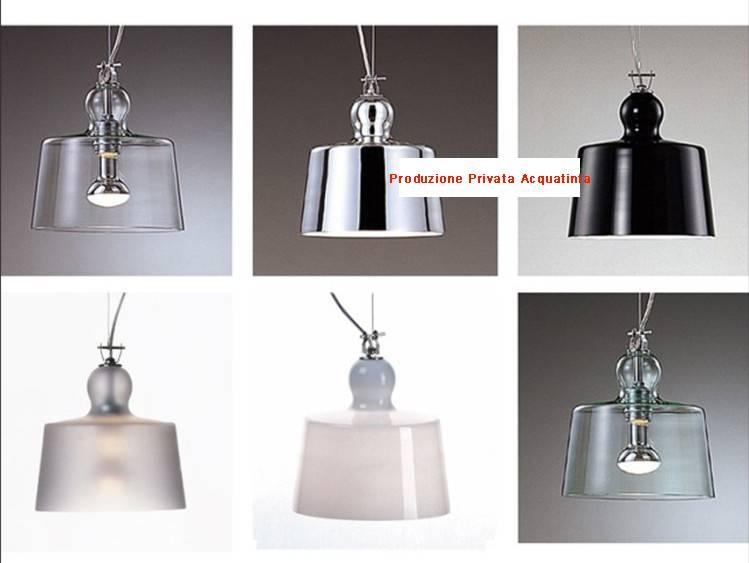 Transparent White Black Chrome Color Produzione Privata Acquatinta For Acquatinta Pendant Lights (View 11 of 15)