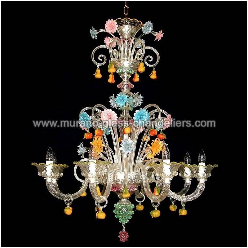 """Tripudio"""" Murano Glass Chandelier – Murano Glass Chandeliers With Regard To Murano Lights Fixtures (#13 of 15)"""