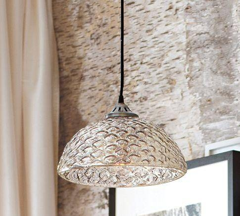 Troy Lighting Silver Mercury Light Pendant Regarding Mercury Glass Ceiling Lights (#14 of 15)