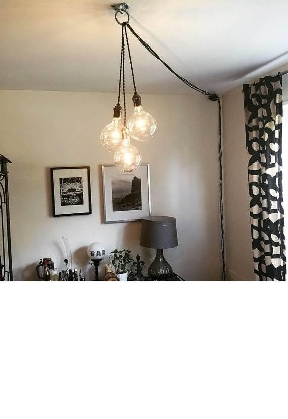 Unique Chandelier Plug In Modern Hanging Pendant Lamp Regarding Plugin Pendant Lights (View 6 of 15)