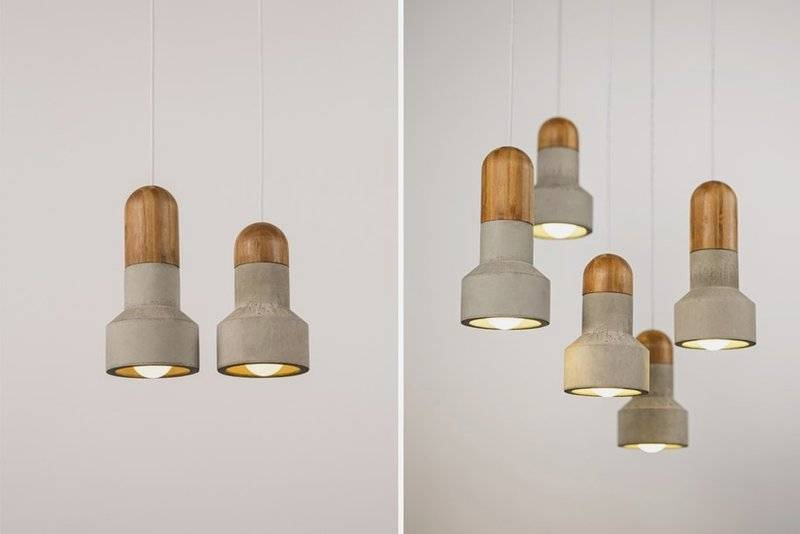 Inspiration about Unusual Pendant Lamp That Made Of Bamboo And Concrete – And Inside Diy Concrete Pendant Lights (#5 of 15)