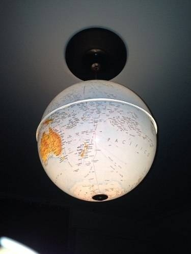 Inspiration about Upcycled World Globe – Easy Diy Pendant Lights With Regard To World Globe Lights Fixtures (#10 of 15)